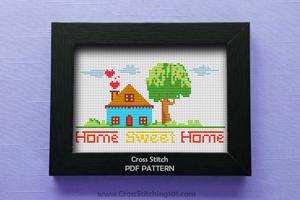 Home Sweet Home 3 Cross Stitch Pattern