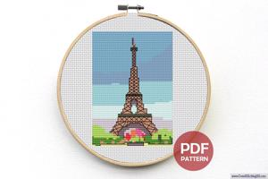 The Eiffel Tower CrossStitch Design