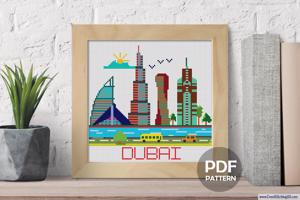 Dubai City Cross Stitch Chart