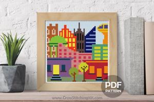 City Cross Stitch Pattern